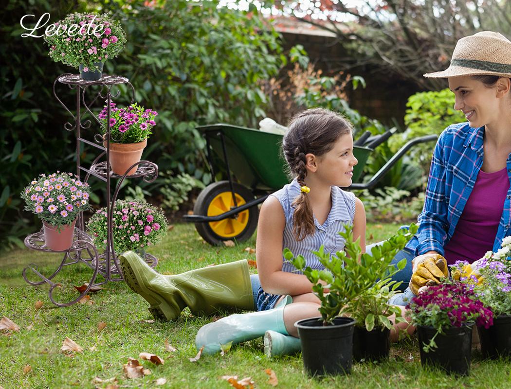 Plant-Stand-Outdoor-Indoor-Metal-Pot-Shelf-Garden-Decor-Flower-Rack-Wrought-Iron thumbnail 35