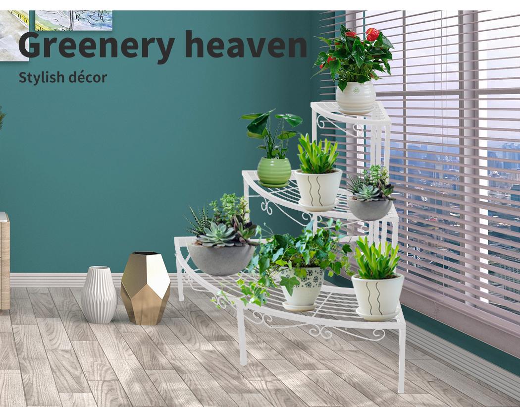 Levede-Plant-Stands-Outdoor-Indoor-Metal-Black-Flower-Pot-3-Garden-Corner-Shelf thumbnail 49