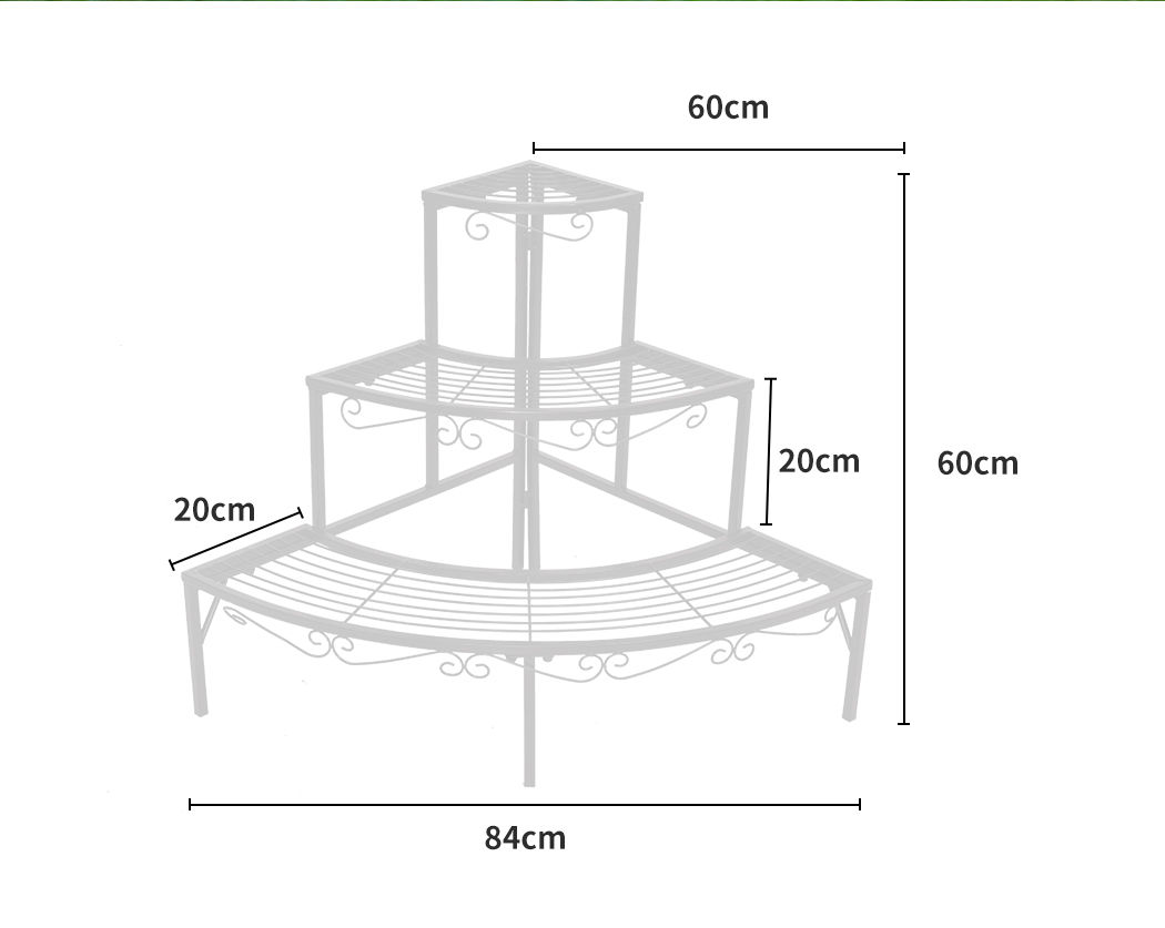 Levede-Plant-Stands-Outdoor-Indoor-Metal-Black-Flower-Pot-3-Garden-Corner-Shelf thumbnail 57