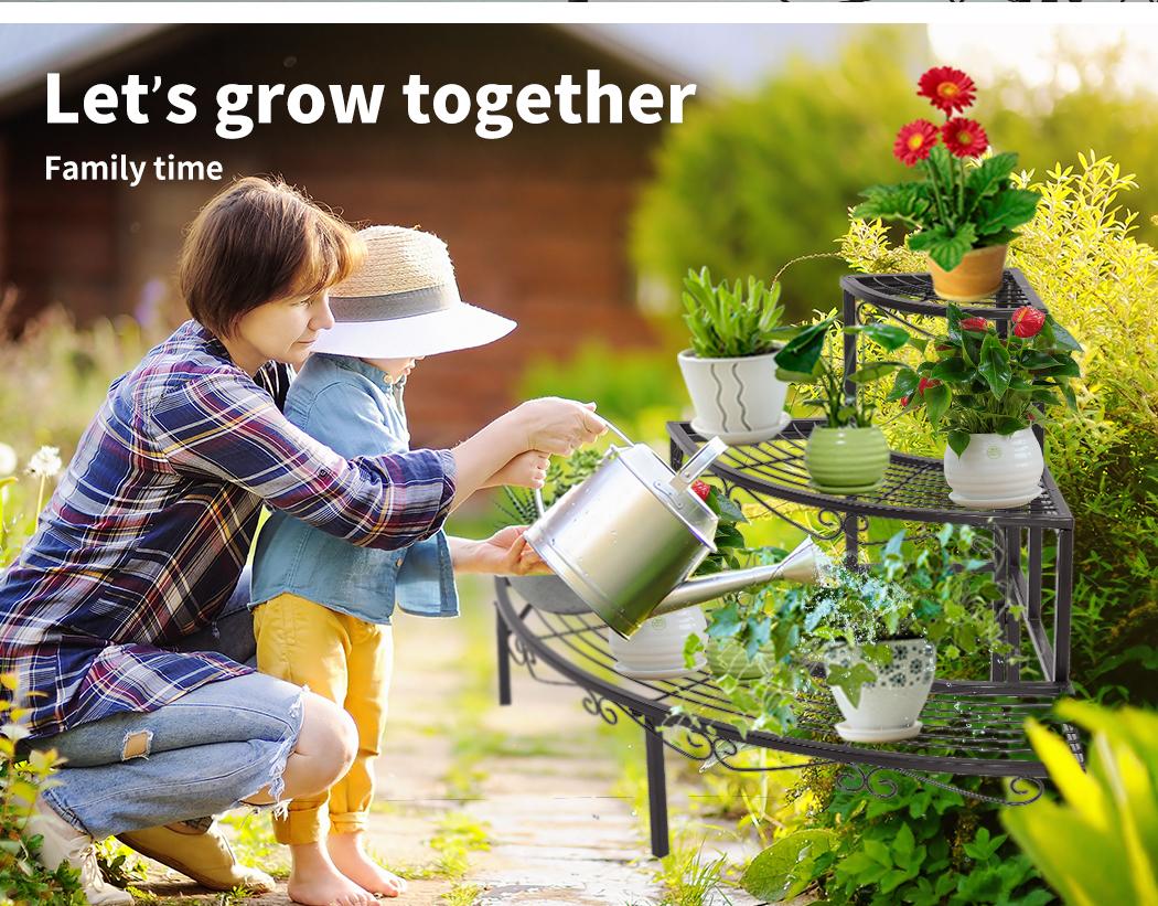 Levede-Plant-Stands-Outdoor-Indoor-Metal-Black-Flower-Pot-3-Garden-Corner-Shelf thumbnail 41