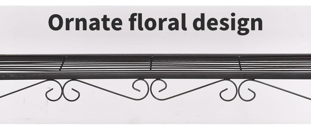 Levede-Plant-Stands-Outdoor-Indoor-Metal-Black-Flower-Pot-3-Garden-Corner-Shelf thumbnail 19
