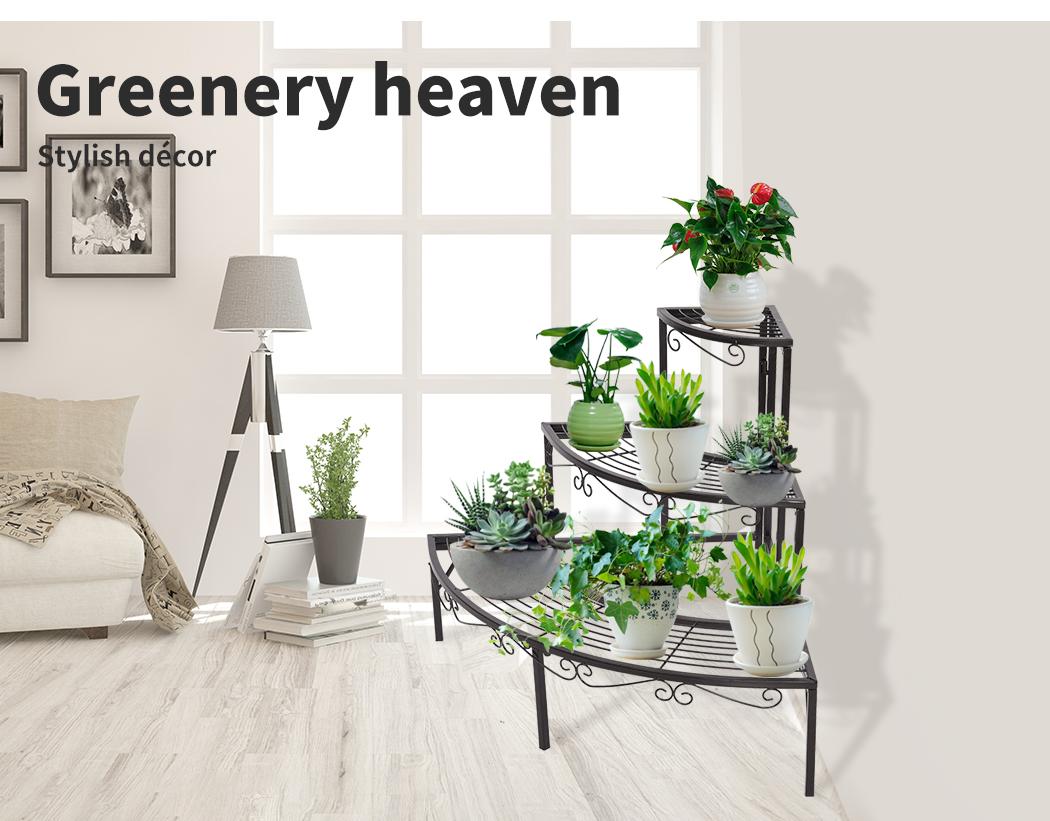 Levede-Plant-Stands-Outdoor-Indoor-Metal-Black-Flower-Pot-3-Garden-Corner-Shelf thumbnail 37