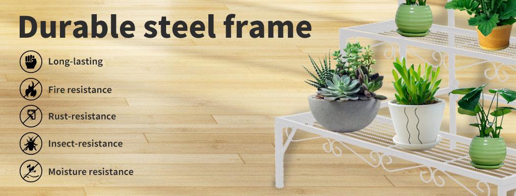 Levede-Plant-Stands-Outdoor-Indoor-Metal-Black-Flower-Pot-3-Garden-Corner-Shelf thumbnail 75