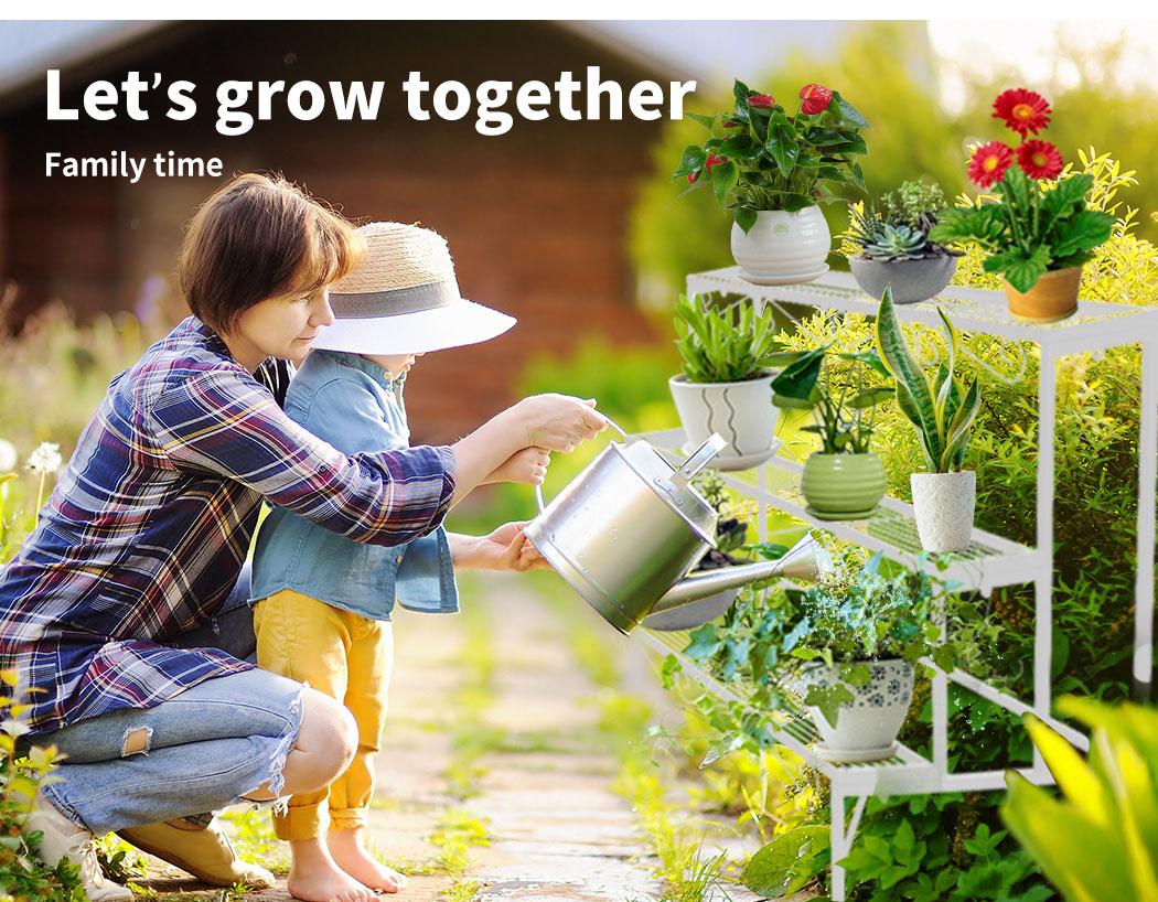 Levede-Plant-Stands-Outdoor-Indoor-Metal-Black-Flower-Pot-3-Garden-Corner-Shelf thumbnail 76