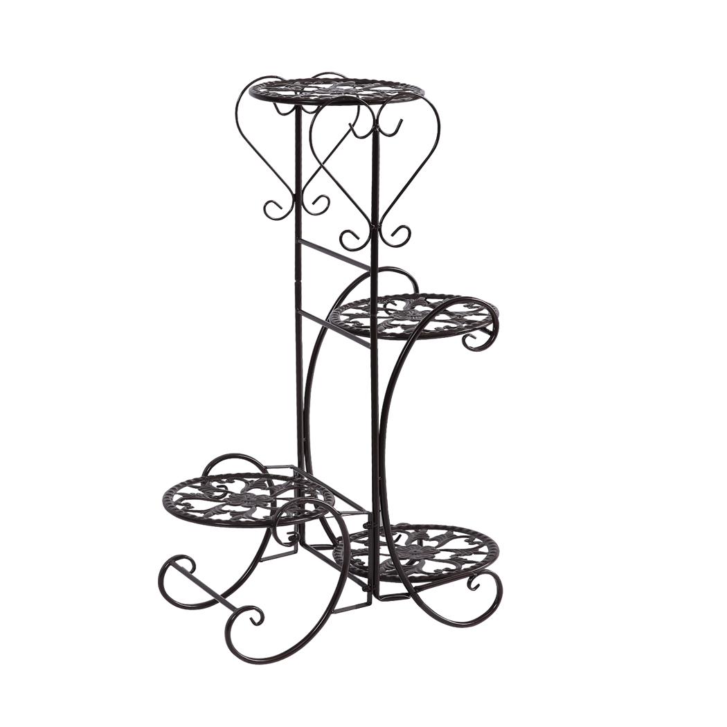 Plant-Stand-Outdoor-Indoor-Metal-Pot-Shelf-Garden-Decor-Flower-Rack-Wrought-Iron thumbnail 24