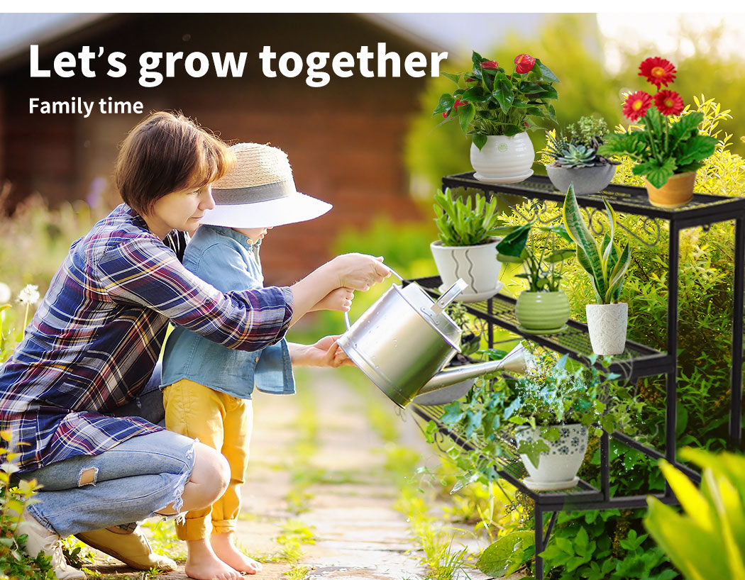 Levede-Plant-Stands-Outdoor-Indoor-Metal-Black-Flower-Pot-3-Garden-Corner-Shelf thumbnail 18