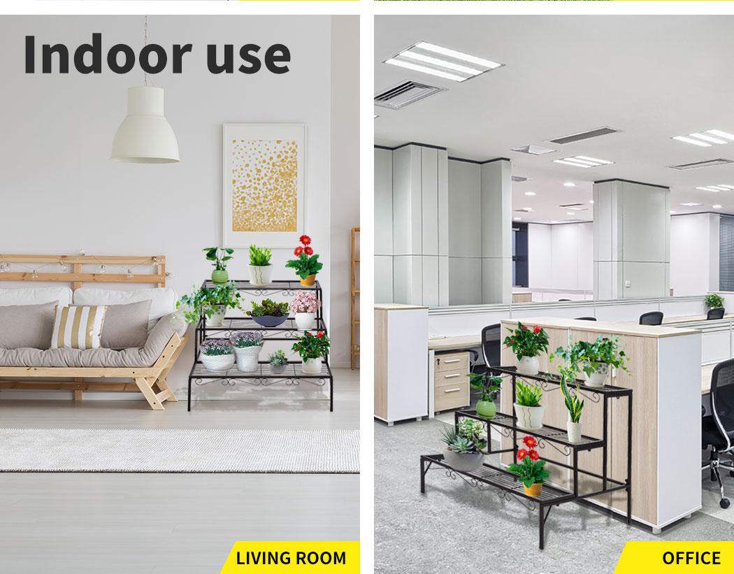 Levede-Plant-Stands-Outdoor-Indoor-Metal-Black-Flower-Pot-3-Garden-Corner-Shelf thumbnail 16