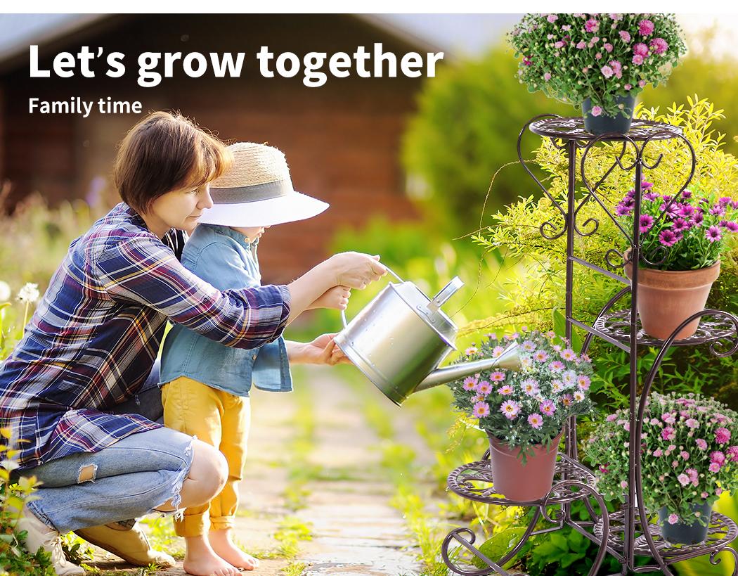 Plant-Stand-Outdoor-Indoor-Metal-Pot-Shelf-Garden-Decor-Flower-Rack-Wrought-Iron thumbnail 30