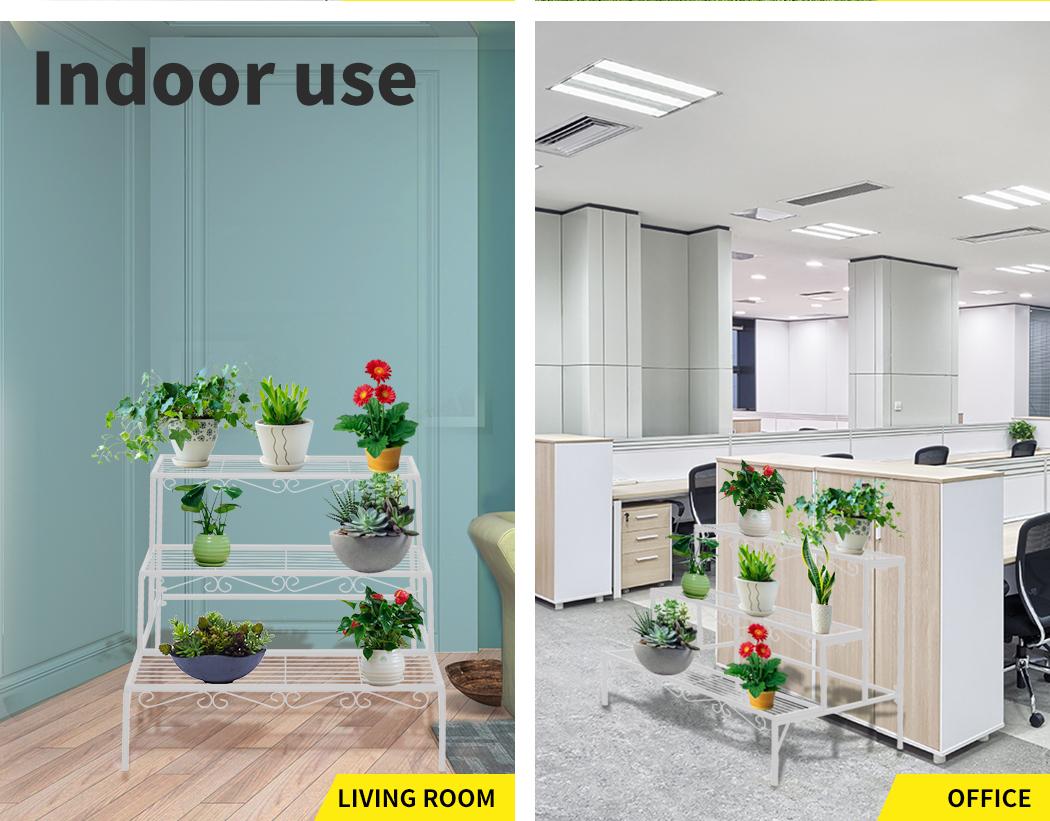 Levede-Plant-Stands-Outdoor-Indoor-Metal-Black-Flower-Pot-3-Garden-Corner-Shelf thumbnail 74