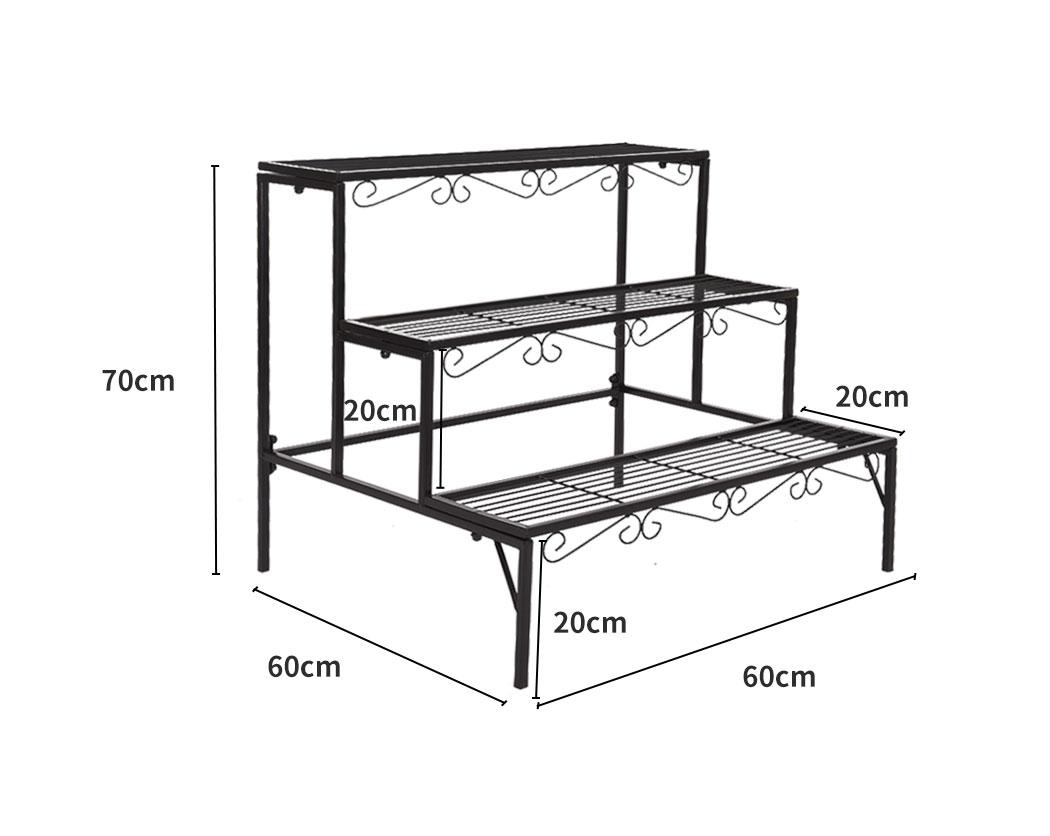Levede-Plant-Stands-Outdoor-Indoor-Metal-Black-Flower-Pot-3-Garden-Corner-Shelf thumbnail 22