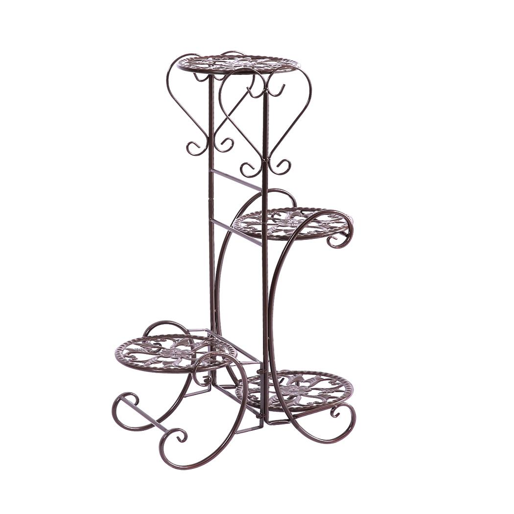 Plant-Stand-Outdoor-Indoor-Metal-Pot-Shelf-Garden-Decor-Flower-Rack-Wrought-Iron thumbnail 36