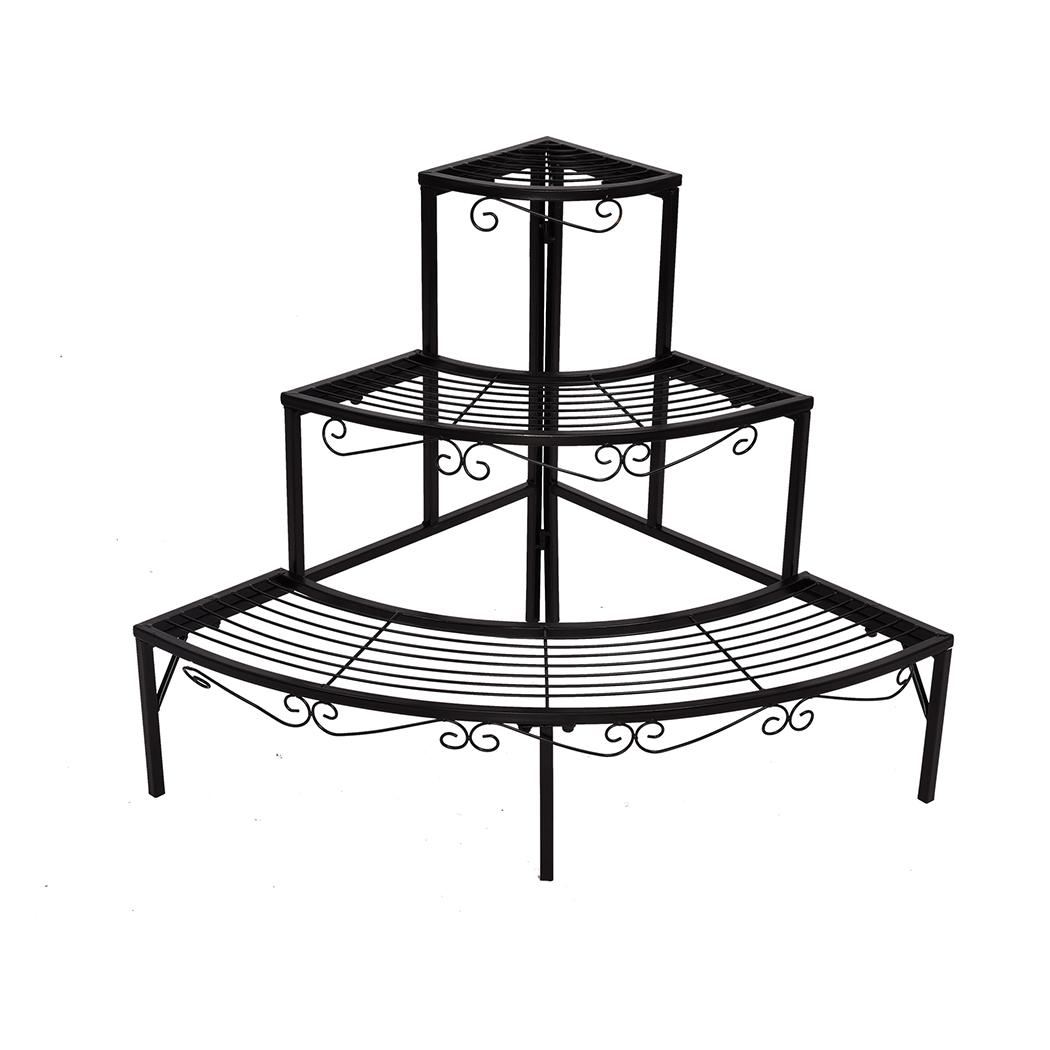 Levede-Plant-Stands-Outdoor-Indoor-Metal-Black-Flower-Pot-3-Garden-Corner-Shelf thumbnail 47