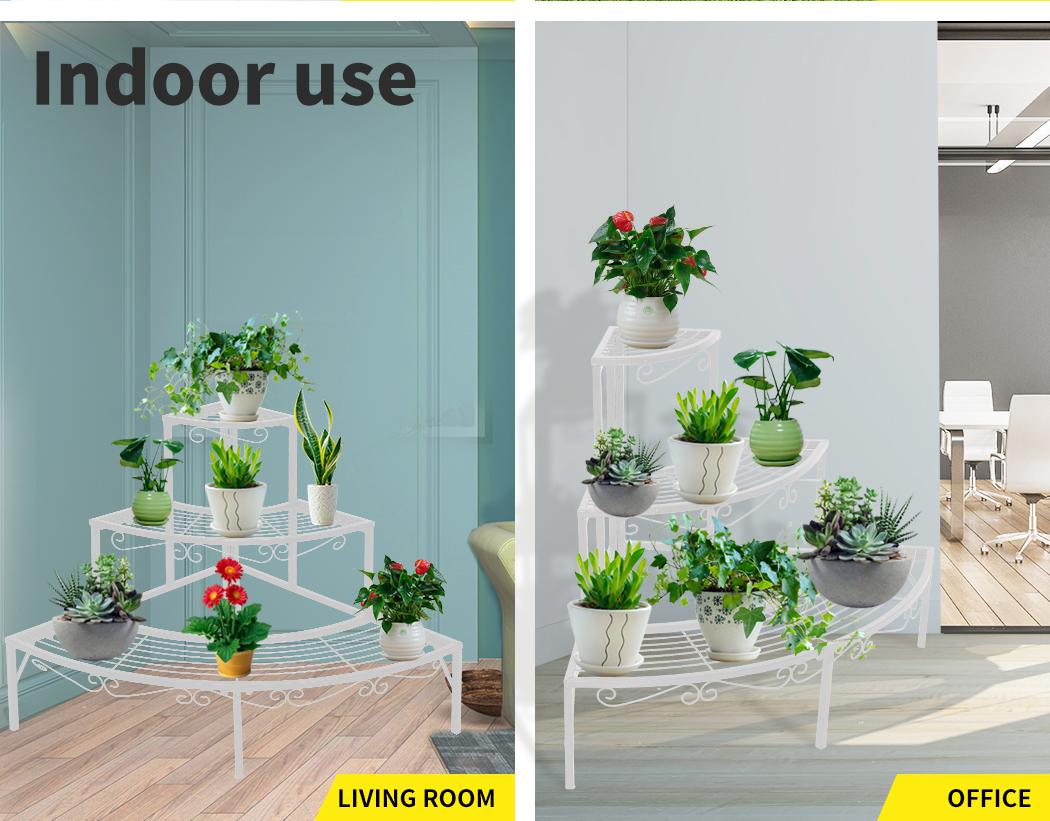 Levede-Plant-Stands-Outdoor-Indoor-Metal-Black-Flower-Pot-3-Garden-Corner-Shelf thumbnail 51