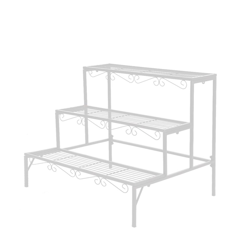 Levede-Plant-Stands-Outdoor-Indoor-Metal-Black-Flower-Pot-3-Garden-Corner-Shelf thumbnail 82