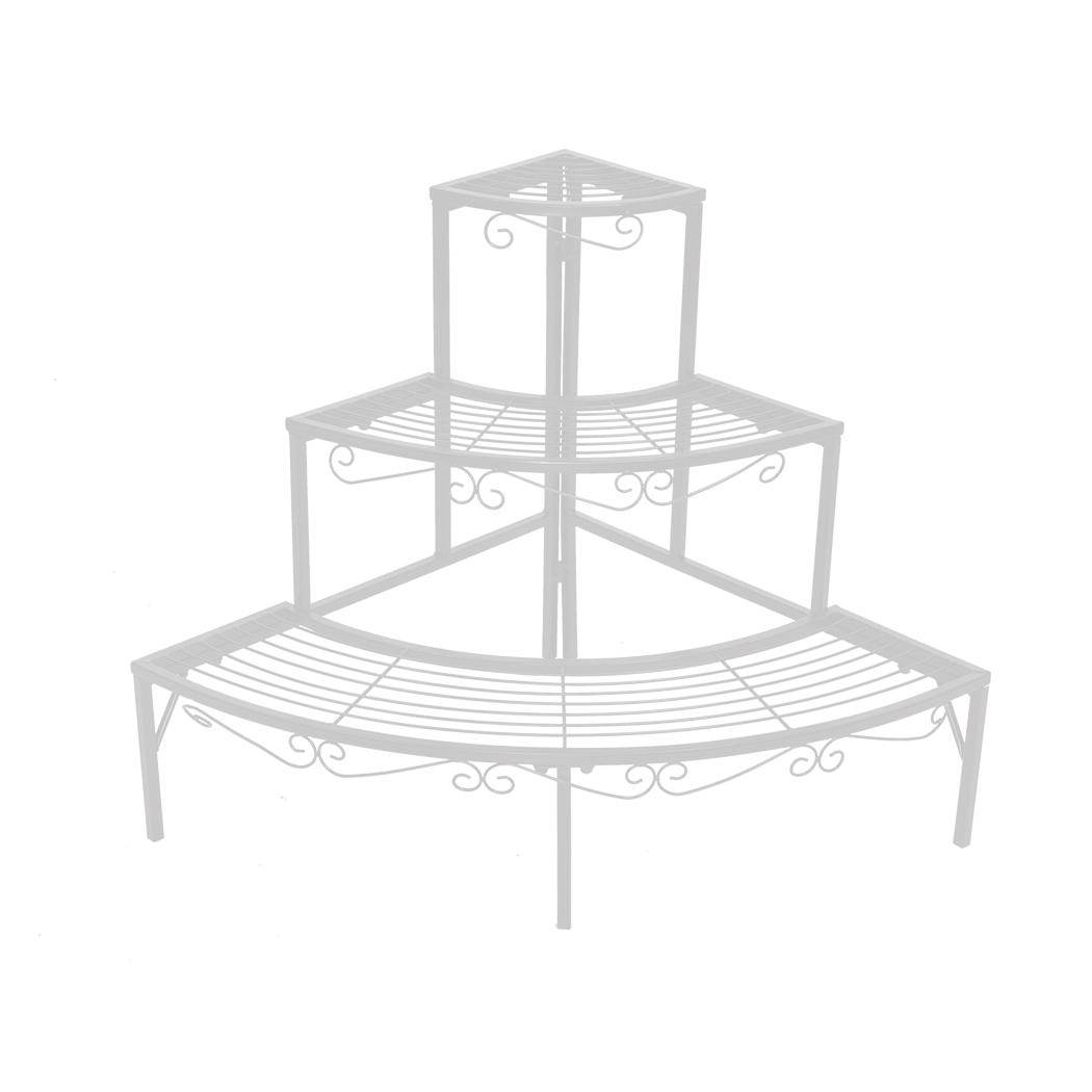 Levede-Plant-Stands-Outdoor-Indoor-Metal-Black-Flower-Pot-3-Garden-Corner-Shelf thumbnail 59