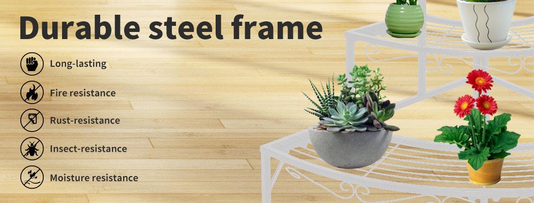 Levede-Plant-Stands-Outdoor-Indoor-Metal-Black-Flower-Pot-3-Garden-Corner-Shelf thumbnail 52