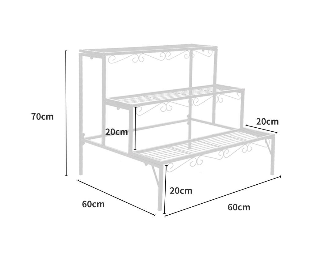 Levede-Plant-Stands-Outdoor-Indoor-Metal-Black-Flower-Pot-3-Garden-Corner-Shelf thumbnail 34