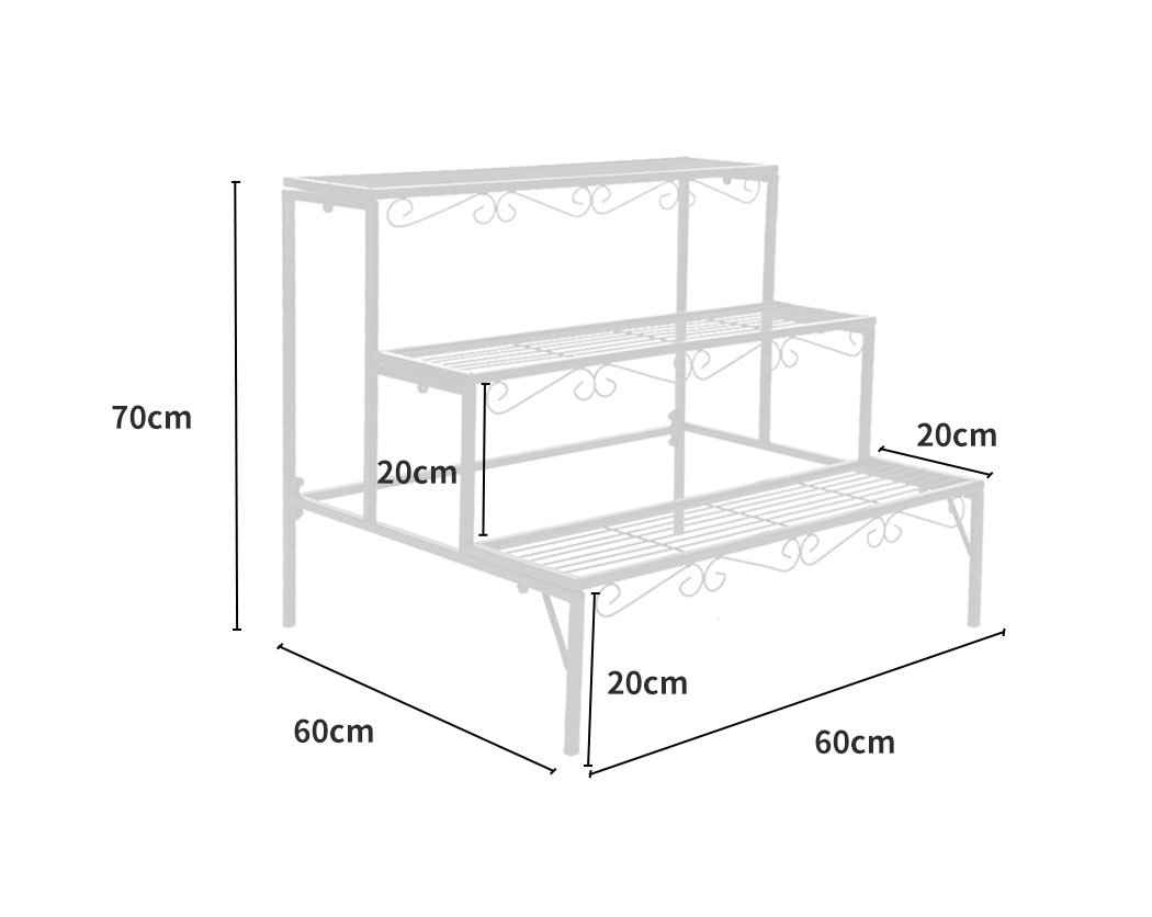 Levede-Plant-Stands-Outdoor-Indoor-Metal-Black-Flower-Pot-3-Garden-Corner-Shelf thumbnail 80
