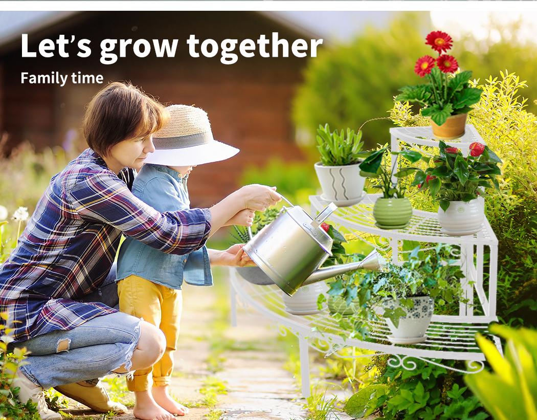 Levede-Plant-Stands-Outdoor-Indoor-Metal-Black-Flower-Pot-3-Garden-Corner-Shelf thumbnail 53