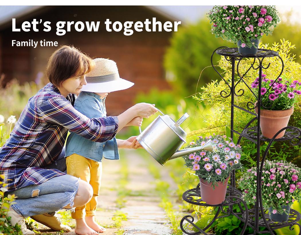 Plant-Stand-Outdoor-Indoor-Metal-Pot-Shelf-Garden-Decor-Flower-Rack-Wrought-Iron thumbnail 18