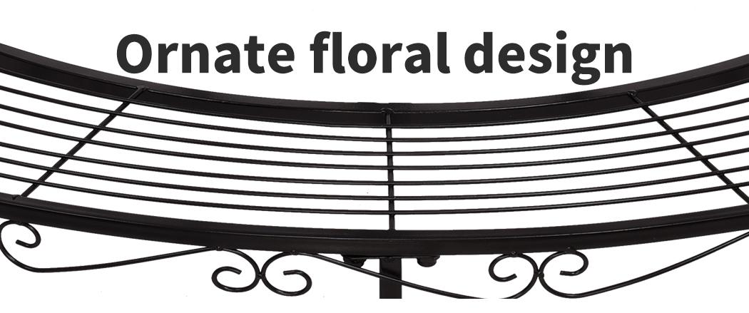Levede-Plant-Stands-Outdoor-Indoor-Metal-Black-Flower-Pot-3-Garden-Corner-Shelf thumbnail 42