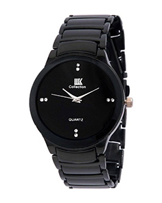 Fashion Stainless Steel Analog Watch for Men Black