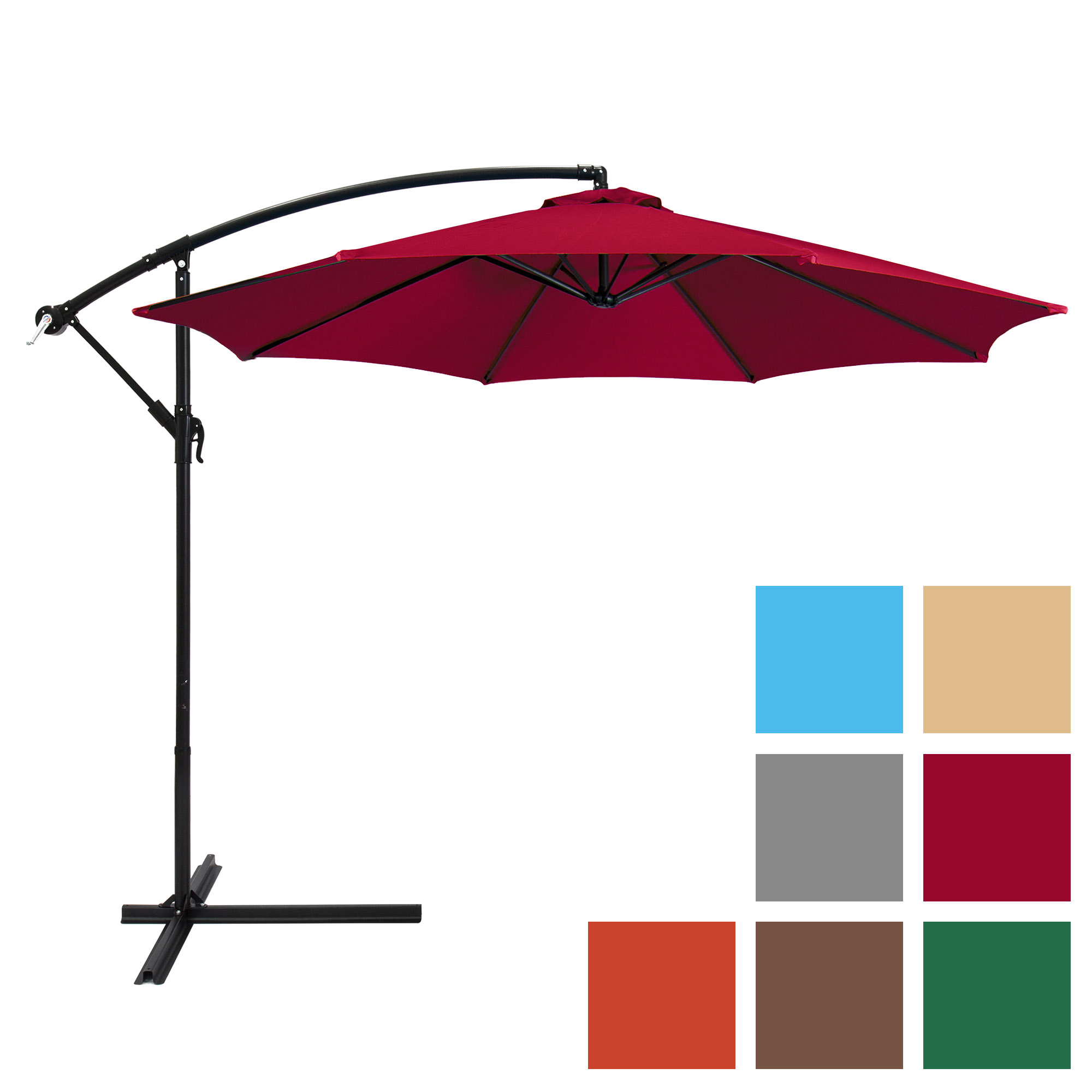 Best Choice Products 10ft Offset Hanging Outdoor Market