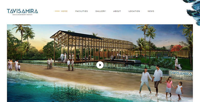 Website Resort Bali – Tavisamira Beach Club & Resort