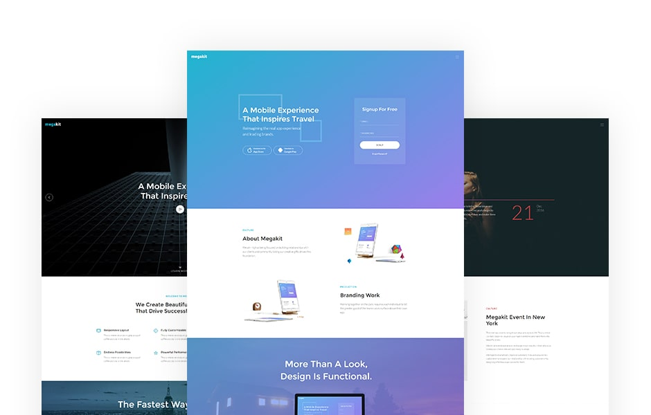 Megakit Free Ultimate Bootstrap Template
