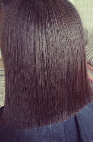 Волосы сразу после кератинового выпрямления