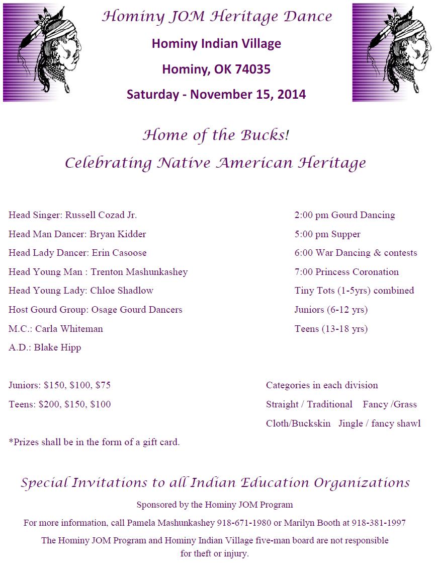 Hominy JOM Dance Flyer