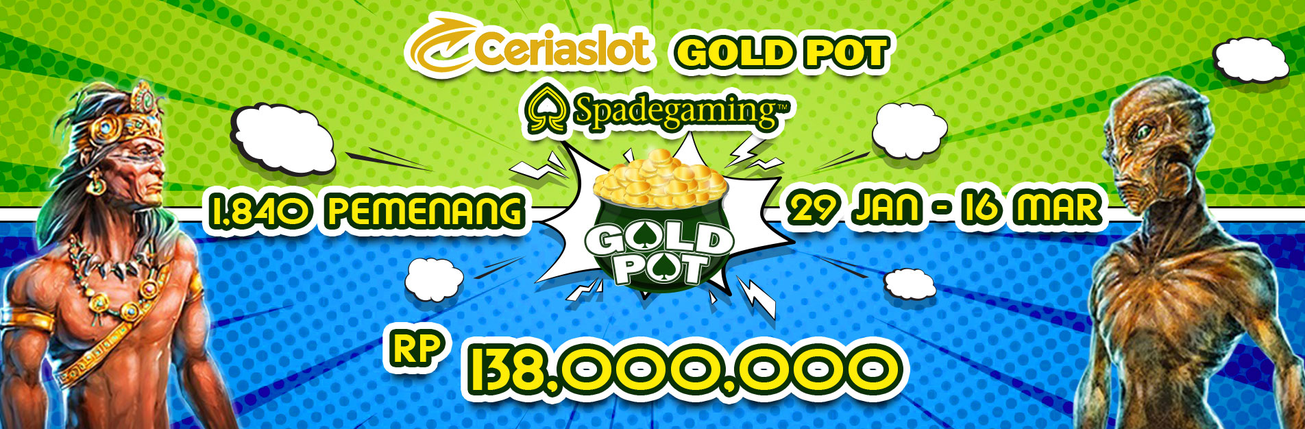 Turnamen Slot Spadegaming Gold Pot - CERIASLOT