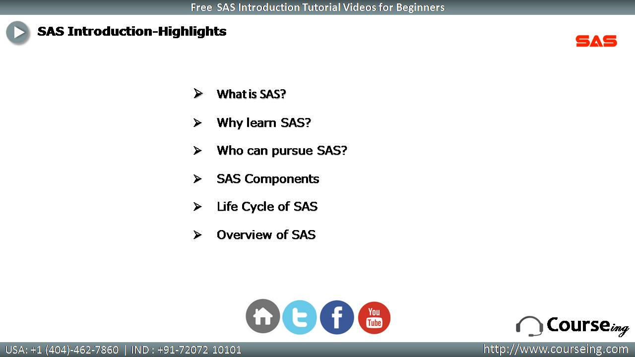 Free SAS Introduction Highlights