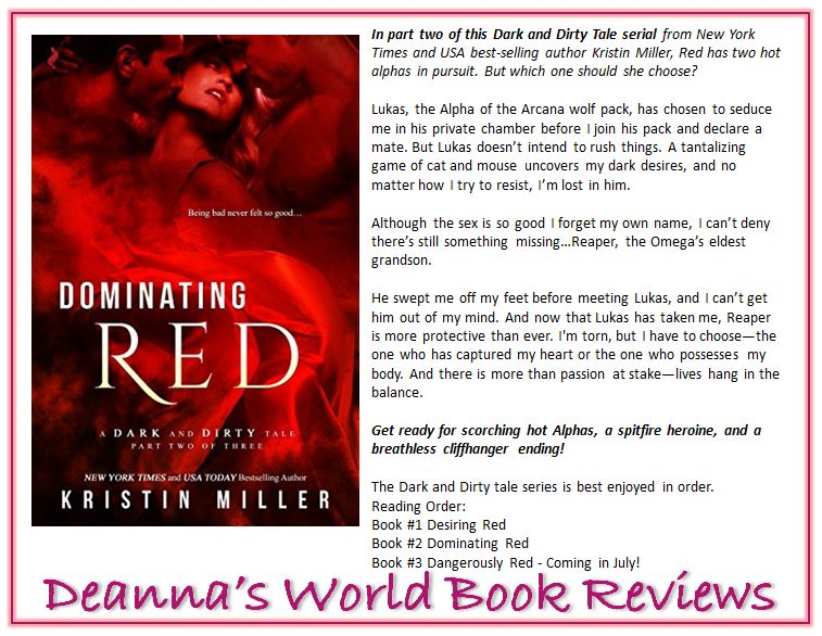 Dominating Red by Kristin Miller blurb