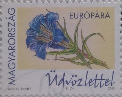 венгрия 2015 голуб цветок