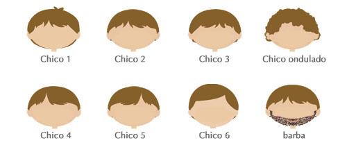 Cómo personalizar tu dibujo, tipo de pelo chicos