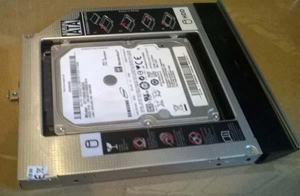 kieszeń DVD na stary dysk pod samsung evo 850