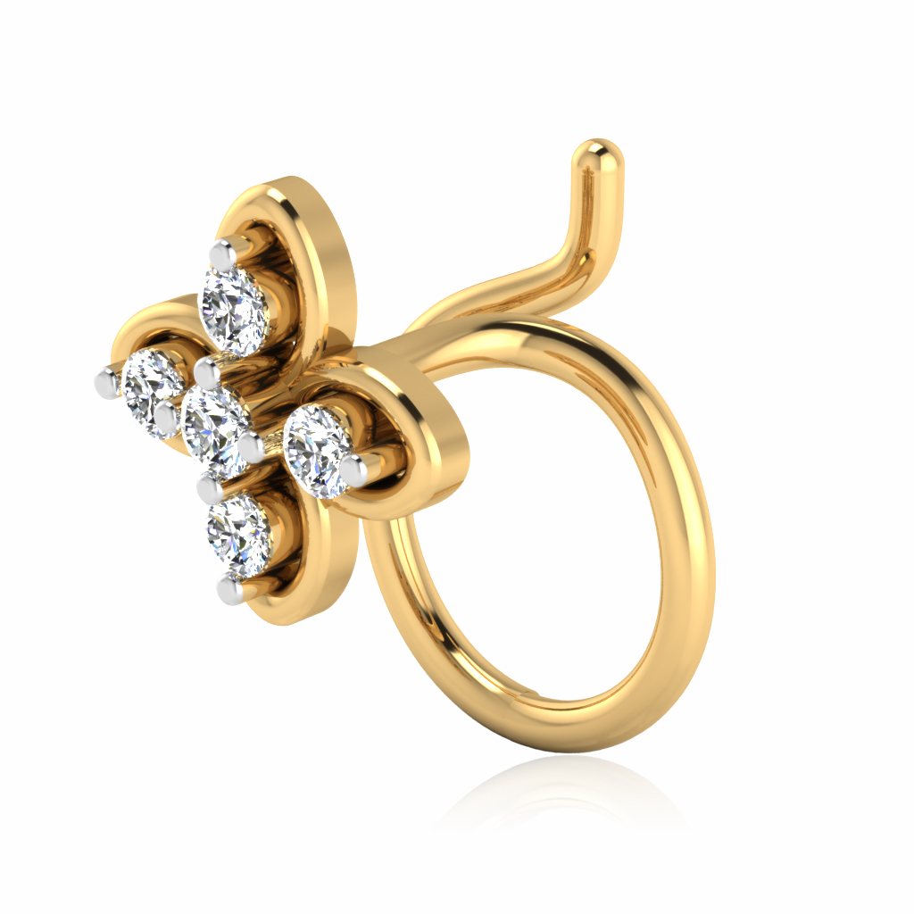 The Rupanshi Diamond Nose Pin