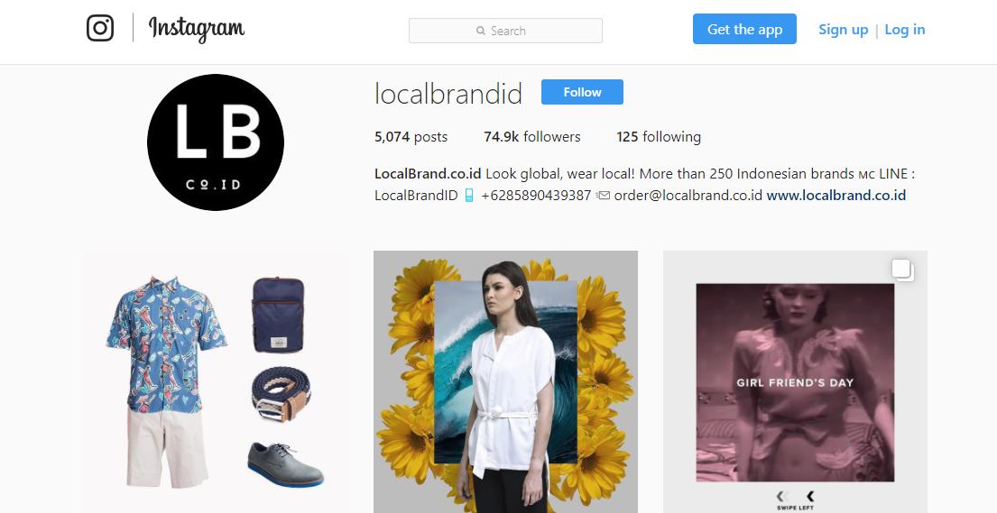 instagram localbrandid