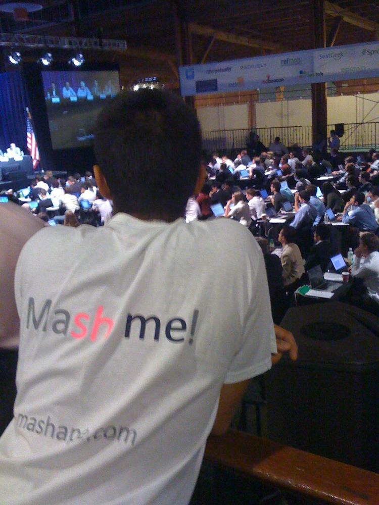 Mashaper wearing our Tshirt at the keynote