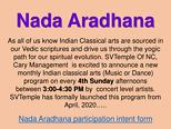 Nadaaradhana Participation Intent Form