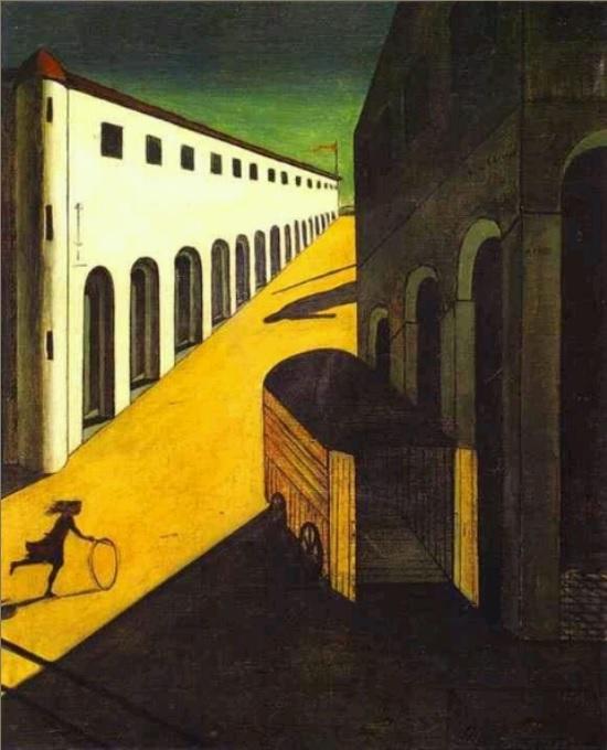 Giorgio de chirica, the mystery and melancholy of street 1914