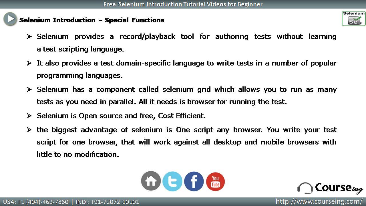 Selenium Special Functions