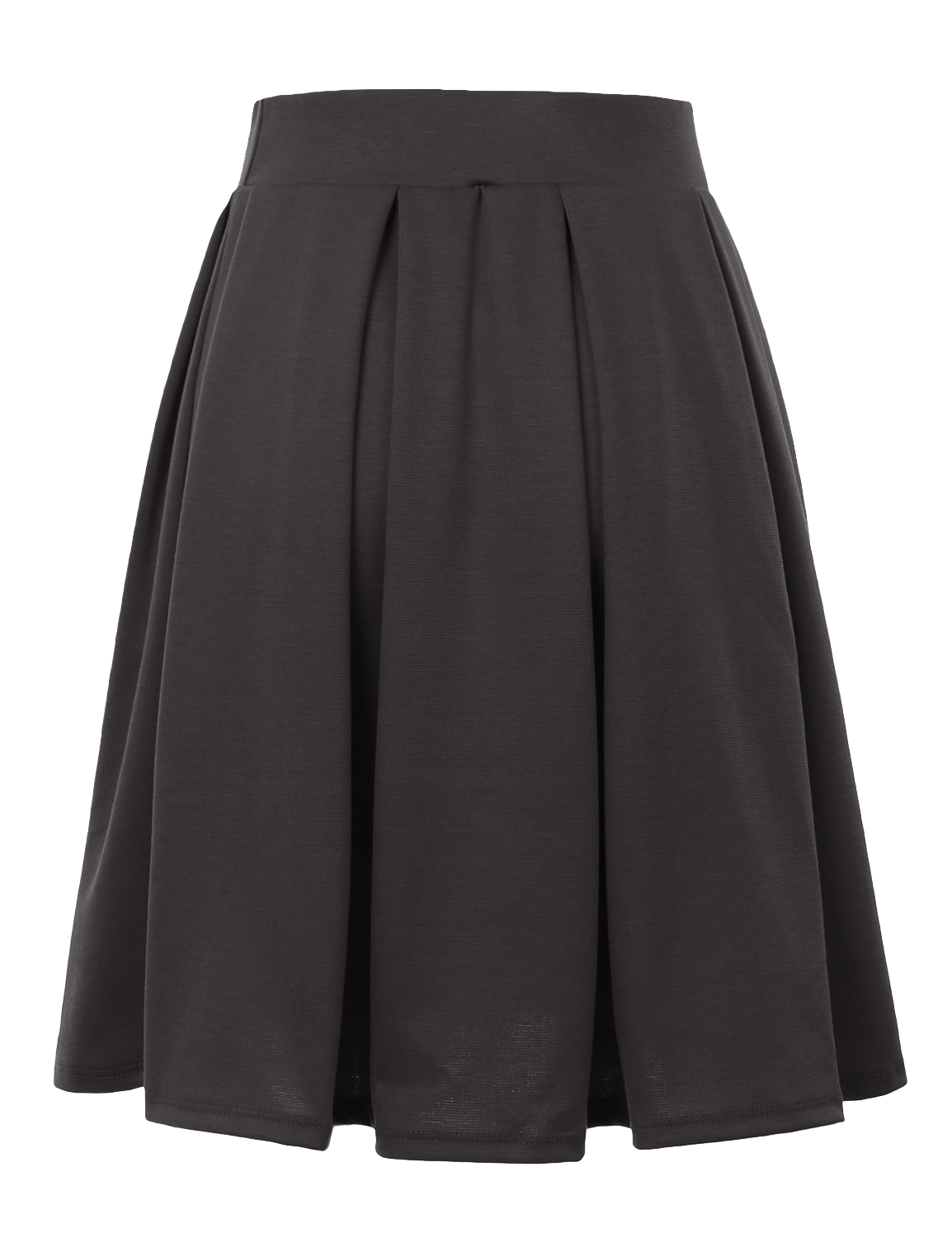 Doublju-Elastic-Waist-Flare-Pleated-Skater-Midi-Skirt-for-Women-with-Plus-Size thumbnail 36