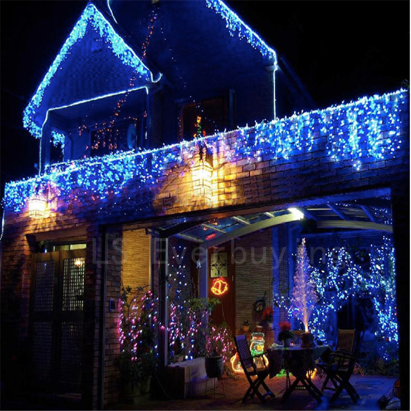Outdoor String Lights South Africa: Christmas 4M 96 LED Curtain Icicle String