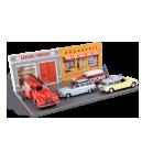 Décors de rue pour miniatures automobiles