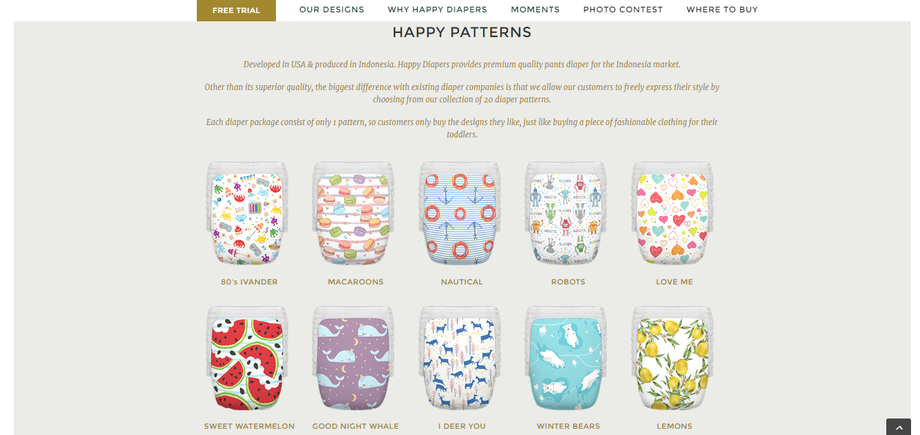happy patterns happy diapers