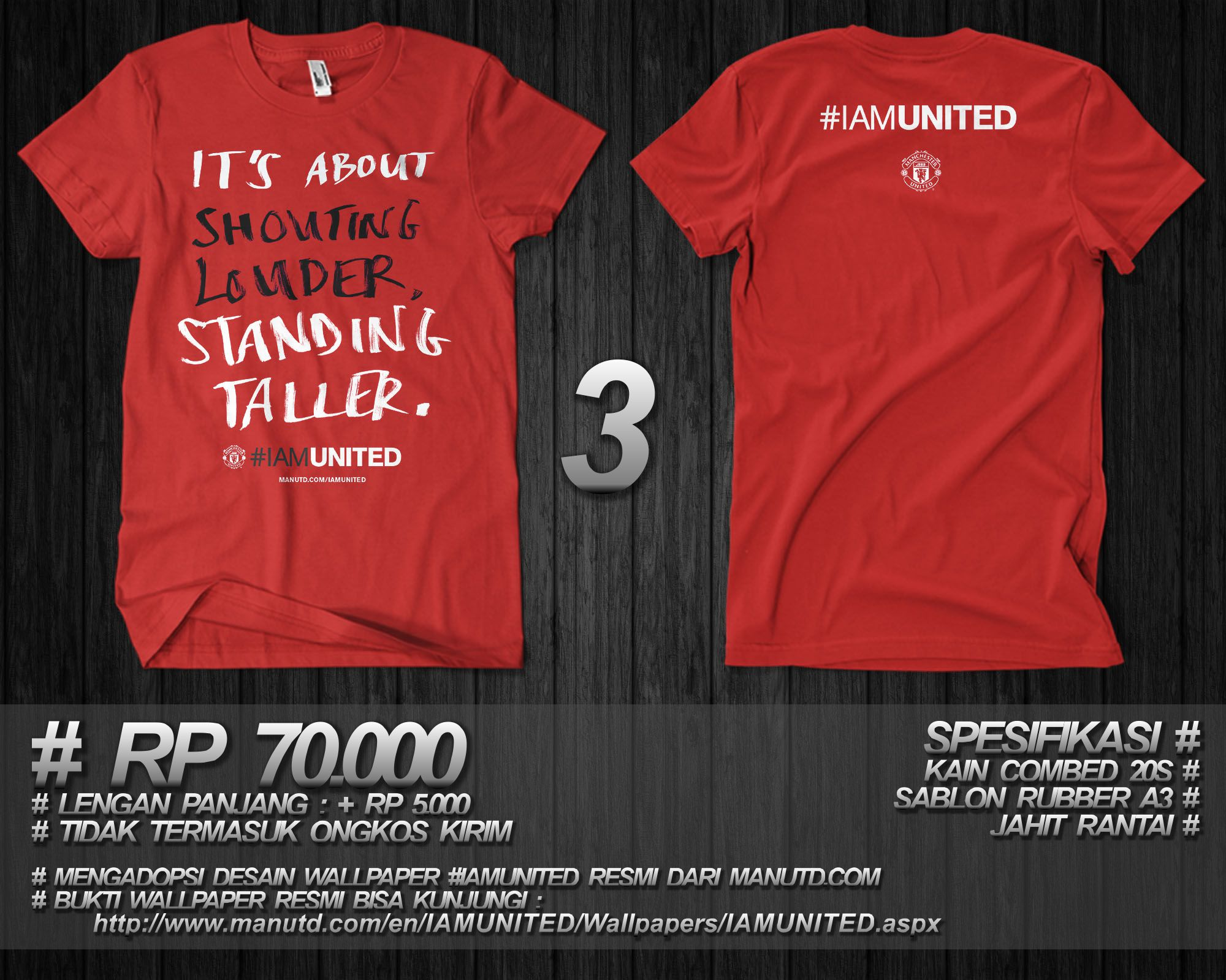 (PRE-ORDER) OFFICIAL #IAMUNITED WALLPAPER ADOPTED ON T-SHIRT (JOGJA)