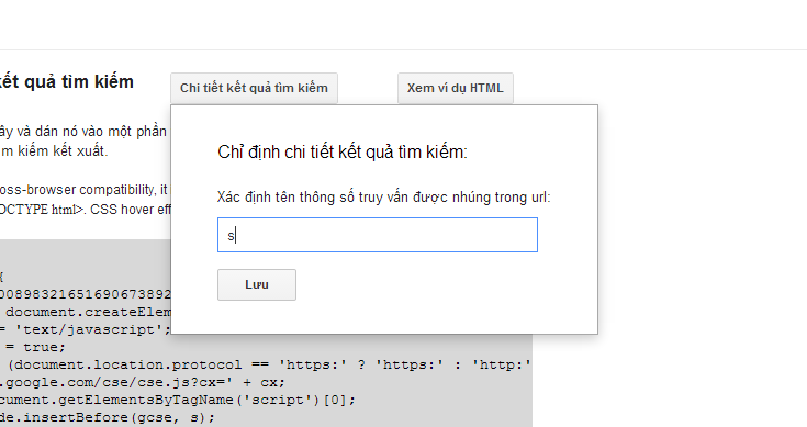 search query string Google Custom Search