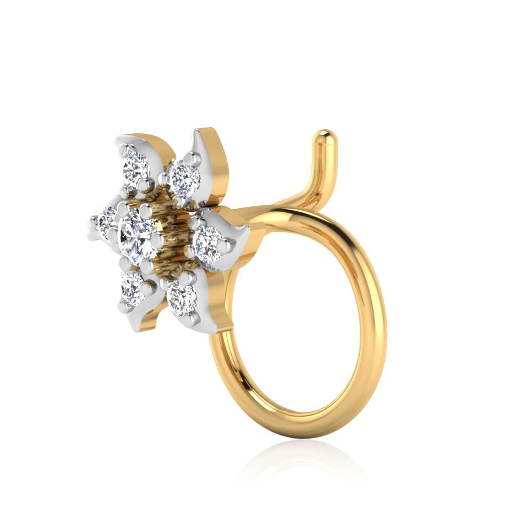 The Elakshi Diamond Nose Pin